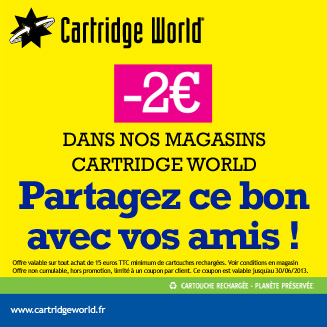 Coupon de rduction Cartridge World Rennes