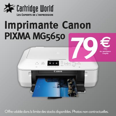 imprimante CANON PIXMA MG5650 - Cartridge World Rennes