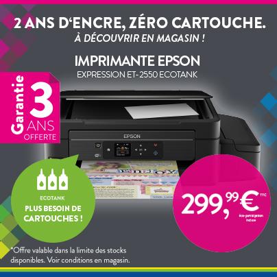 Imprimante Epson Ecotank ET-2550 - Cartridge World Rennes